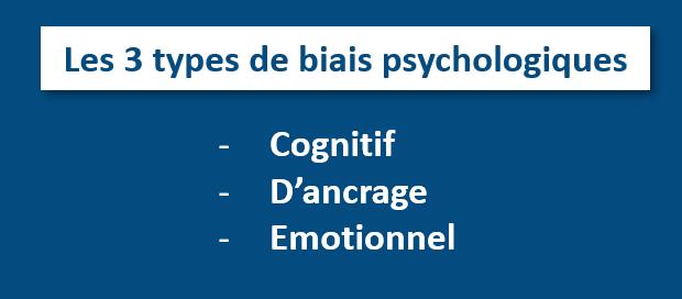 Les 3 types de biais psychologiques en bourse